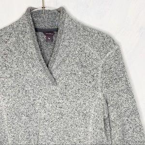 Eddie Bauer Fleece Popover Marled Sweatshirt Sz L